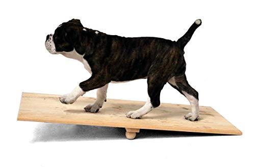 SAUERLAND Holz-Wippe für Welpen - 90 cm lang, ca. 90 x 40 x 10 cm, Hundespielzeug
