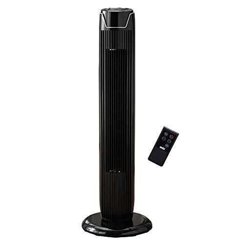 ANSIO Oszillierender Turmventilator mit Fernsteuerung- Säulenventilator - 90CM Standventilator -...