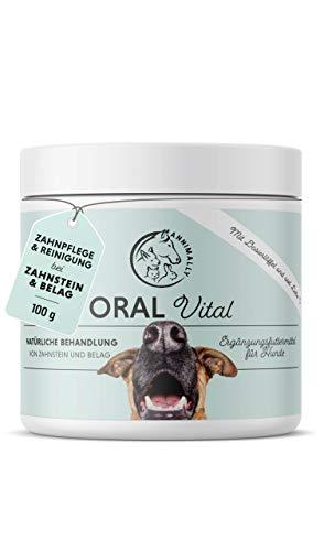 Annimally Zahnpflege Pulver für Hunde I 100g Mittel gegen Zahnstein Hund - Natürliche besonders...