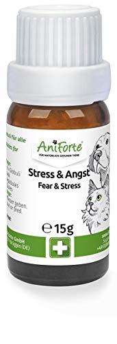 AniForte Stress & Angst Globuli Bachblüten für Hunde, Katzen, Haustiere - Beruhigung & Entspannung,...
