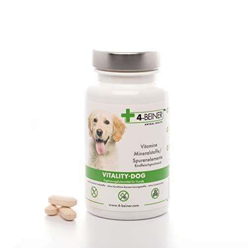 4-BEINER Vitality-Dog, 12 Multi Vitamine für Hunde, Vitamin B Komplex, Vitamin A, C, E, D, Folsäure,...