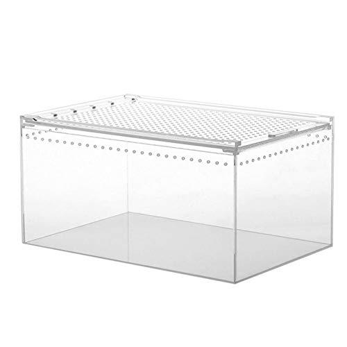 Eillybird Reptilienzuchtbox, Clear Acryl Reptilienfütterungsbox Mehrzweckterrarium für...