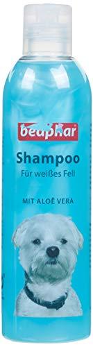 Hunde Shampoo für weißes Fell | pH neutrales Hundeshampoo | Hunde Shampoo mit Aloe Vera | Shampoo für...