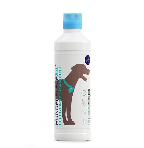 Hundepflege24 - Hundeshampoo Fellglanz 500ml mit Aloe Vera für gesund glänzendes Fell inkl. pflegendem...