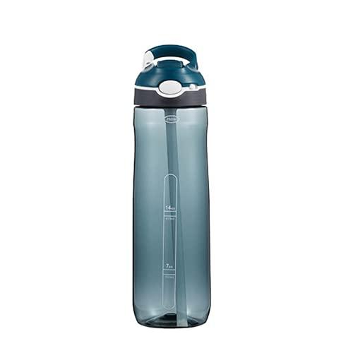 TAIJUN Trinkflasche mit Stroh Multi-Capacity-Kunststoff-Wasserflasche Keine BPA Personalisierte...