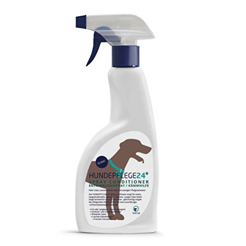 Hundepflege24 Spray Conditioner Entfilzungsspray Hunde 500ml - Entwirrungsspray & Kämmhilfe mit...