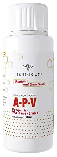 Bienen Propolis Tropfen TENTORIUM A-P-V 100ml | Immunsystem stärken | Propolis Tinktur ohne Alkohol...