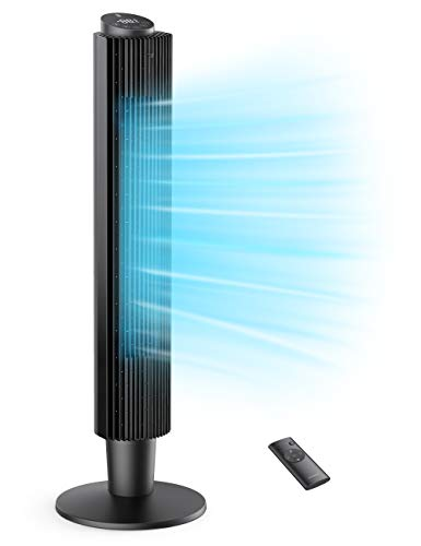 TaoTronics Turmventilator 90° Oszillierender 106CM Standventilator 35dB Leise Säulenventilator mit...