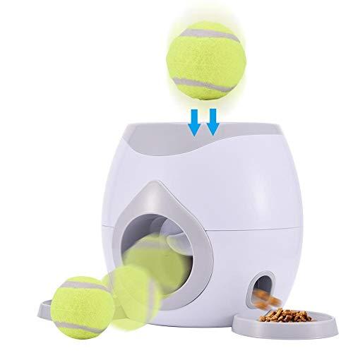 WXGY Futterautomat für Hund & Katze, Für Haustiere Und Besitzer Automatischer Ballwerfer Hunde Haustier...