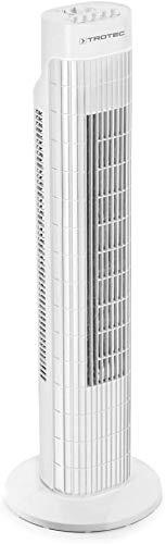 TROTEC Turmventilator TVE 30 T Tower-Ventilator Autom. 60°-Oszillation 3 Geschwindigskeitsstufen 45 W...