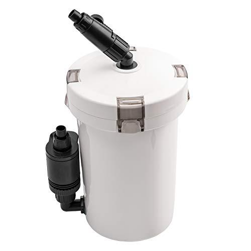 NICREW Aquarium Außenfilter, Einstellbarer Durchfluss Aquarienfilter mit Filtermaterial, 400 L/h…