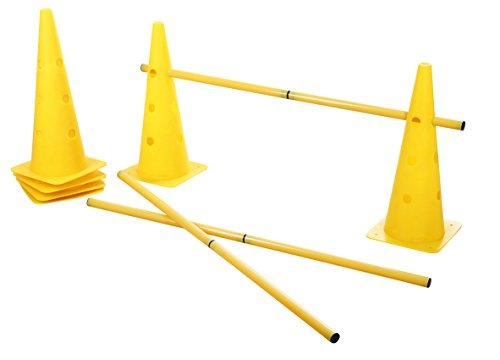 Kerbl 81994 Agility Pylonen-Hürden Set, 3 Hürden, gelb