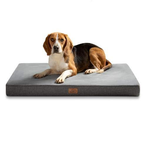 Bedsure Hundekissen Orthopädisch Memory Foam Hundematratze für Grosse Hunde, Hundebett mit Ergonomisch...
