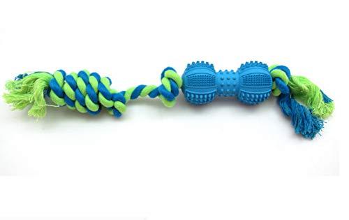 YGTMV Hundespielzeug aus Gummi, interaktives Hundespielzeug aus Knochenseil, Kauspielzeug aus Baumwolle
