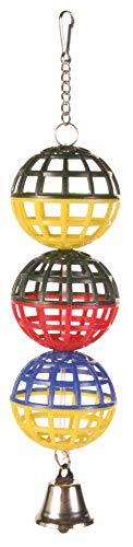 Trixie 5251 3er Gitterball mit Kette und Glocke, 16 cm
