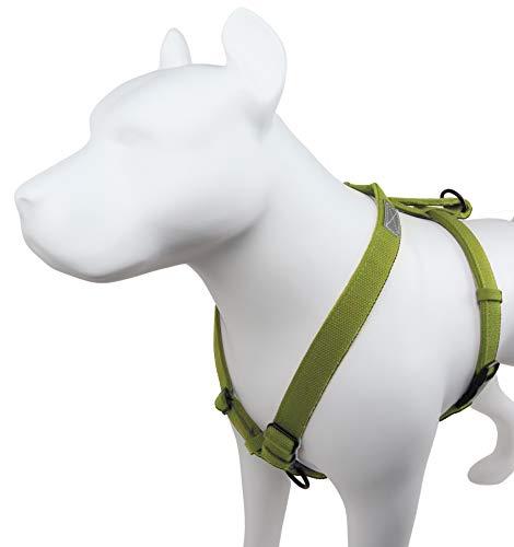 Petfino Hanf-Hundegeschirr mit Verkehrsgriff, kein Ziehen, ausbruchsicher, ungiftig, umweltfreundlich...