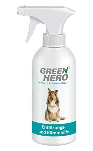 Green Hero Entfilzungs und Kämmhilfe für Hunde und Katzen Entfilzungsspray Fellpflege 500ml