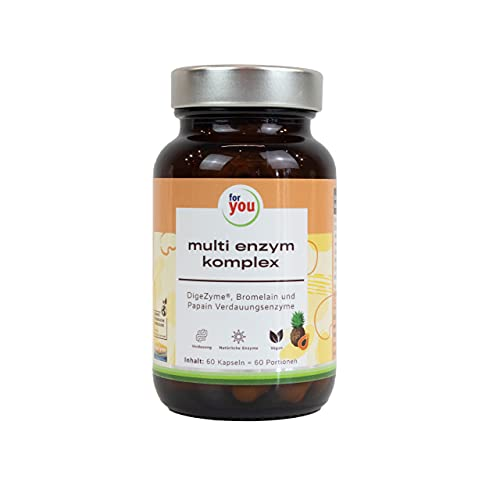 for you multi enzym komplex   Enzyme zur Unterstützung der Verdauung   Natürlicher Multienzymkomplex...