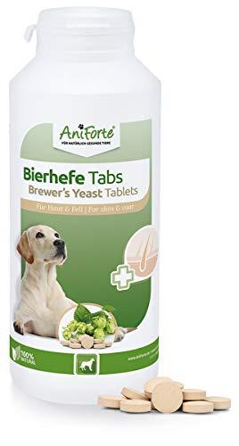 AniForte Bierhefe Hund Tabletten 500 Stück - glänzendes & kräftiges Fell, Vitale Haut, Mineralien &...