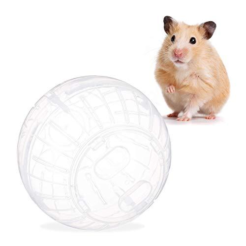 Relaxdays Hamsterball, Laufkugel für Hamster & Mäuse, Bewegung, Nagerspielzeug zum Laufen, Kunststoff,...