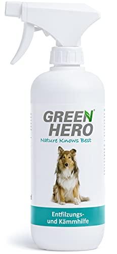 Green Hero Entfilzungs und Kämmhilfe für Hunde und Katzen Entfilzungsspray Entwirrungsspray Fellpflege...