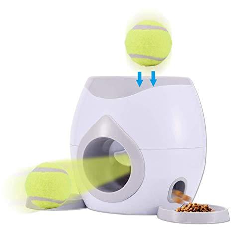 TiKiNi Automatischer Futterspender für Haustiere, interaktives Wurfball-Maschine, Wurfspielzeug,...
