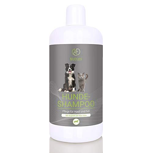 Nutrani Hundeshampoo 500 ml mit Arganöl und Aloe Vera – Pflegendes Hunde Shampoo für Sensible Haut...