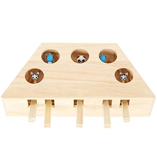 Holz-Katzenspielzeug, Massivholzspielzeug, interaktives Spielzeug, interaktives Katzenspielzeug,...