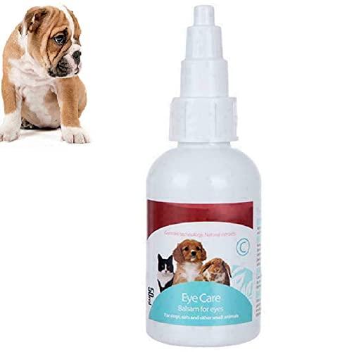 TTCPUYSA Pet Eye Drops Augenpflege Trockene Anti-Juckreiz-Lösung, Augenreiniger für Hunde und Katzen...