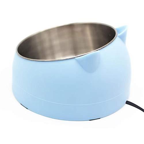 DINGWS Haustier Heizschüssel, Haustier Thermoschüsseln Feeder Futter Wasser Wärme Schüssel Schräg...