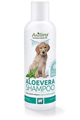 AniForte Aloe Vera Welpenshampoo für Hunde mild 200ml - Hundeshampoo, parfümfrei, Welpen Shampoo für...