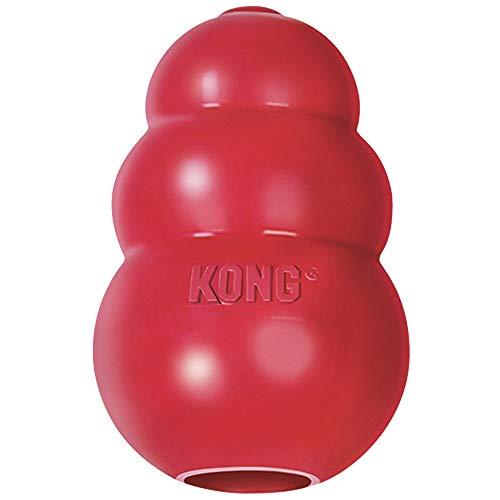 KONG – Classic Hundespielzeug, Robuster Naturkautschuk – Kauen, Jagen, Apportieren – Für Große...
