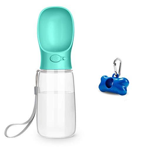 Toozey Hundetrinkflasche für unterwegs, 550ml Tragbare Trinkflasche Hunde, BPA Frei, Auslaufsicher Hunde...