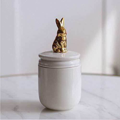MAJYH Haustier Urnen Haustier Feuerbestattung Urne handgemachte Keramik Memorial Urne for Kaninchen...