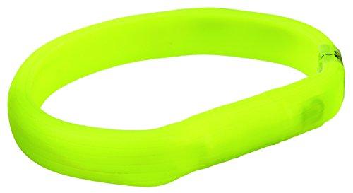 Trixie 12685 Flash Leuchtband USB, L–XL: 70 cm/18 mm, grün