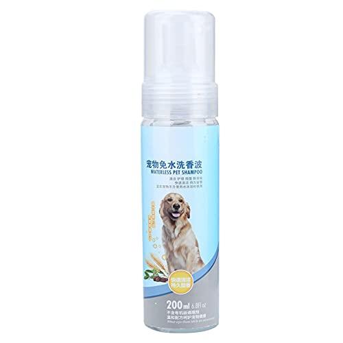 01 Pets No‑Rinse Shampoo, dauerhaft duftendes wasserloses Hundeshampoo Sprühkopf-Design mit...
