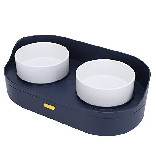 Doppelnapf für Katzen und Hunde, Design mit glänzendem Rand Abnehmbarer, Abnehmbarer Fressnapf Einfach...
