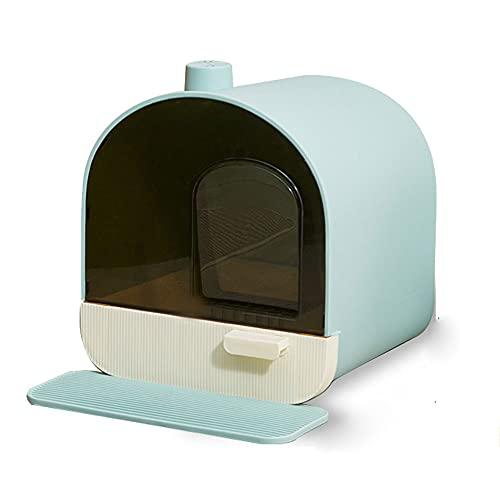 CPWD Pet Wurf Box Voll geschlossen Hausschublade Typ Katze Wurf Box Toilette Katze Wurf Runde Clamshell...