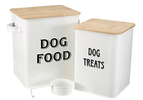 Pethiy Hundefutter und Leckerbissen Behälter mit Schaufel für Hunde,Eng anliegende...