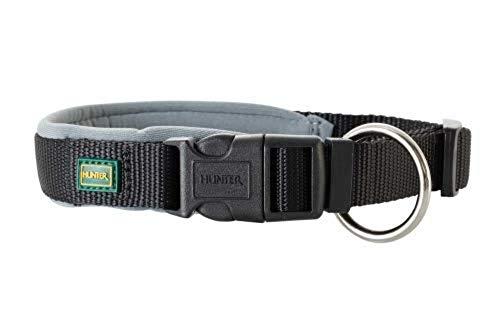 HUNTER NEOPREN VARIO PLUS Halsung, Hundehalsband, Nylon, mit Neopren gepolstert, 40/2,0 (S-M),...