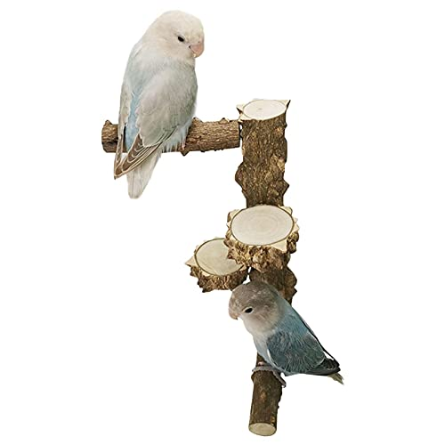 Sitzstangen Für Vogelkäfige Papageien Kanarienvögel Stehend Spielzeug Naturholz Wellensittiche,...