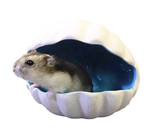 Nonbrand Hamster-Keramikhaus für kleine Tiere, Versteck, niedliches Käfig-Nest, Hamster-Zubehör, coole...