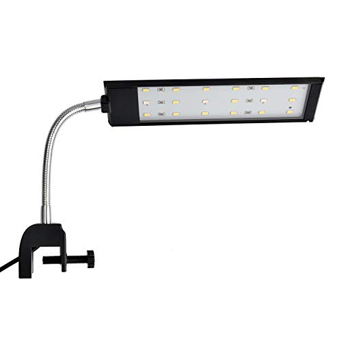 NICREW LED Aquarium Beleuchtung, Aquarienbeleuchtung mit leistungsstarkem Clip für Kleine Aquarium,...
