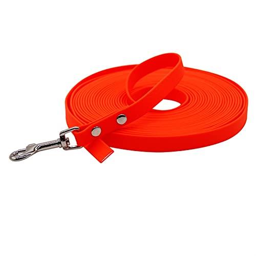 Wasserdichte Haustierhundeleine kleiner Hund leicht zu reinigen Seil 5m 10m (Color : Orange, Size : 5m)