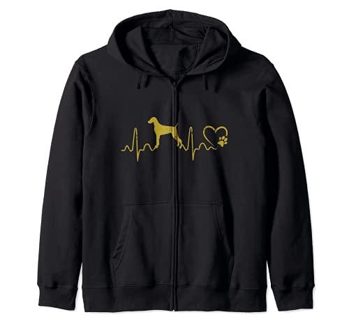 Dogs 365 Dogs 365 Heartbeat Weimaraner Dog Animal Lifeline Kapuzenjacke