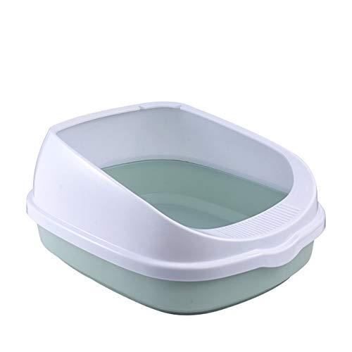 JFYJP Haustier-Toilette Bedpan Anti Splash Katzen Katzenklo Katze Tablett mit Scoop Kitten Saubere...