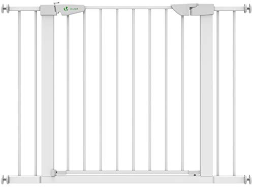 VOUNOT Treppenschutzgitter 76–108cm, ohne Bohren, Türschutzgitter für Kinder, Hunde und Katzen,...