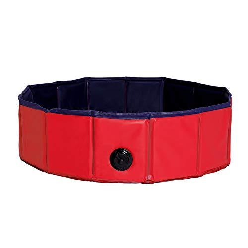 dibea Hundepool aus PVC, Schwimmbecken für Hunde, Hundebad, Wasserbecken für Hunde (Größe wählbar)...