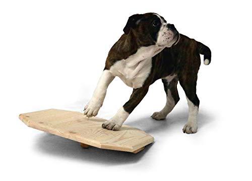 SAUERLAND Holz-Wackelbrett für Welpen ca. L 40 x B 40 x H 10 cm, Hundespielzeug
