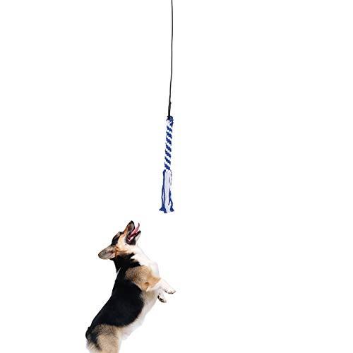 UEETEK Interaktive Hundespielzeug Angel Kauspielzeug Spielangel Stock mit Seil Hundeangel Pole Haustier...
